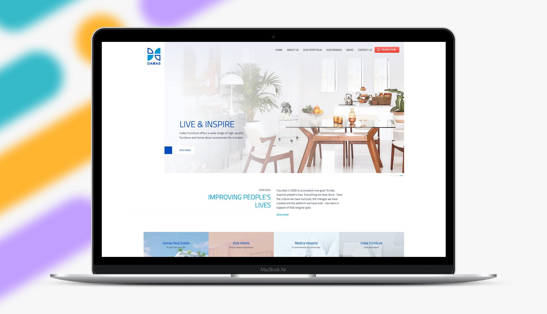 Damas Coporate Website